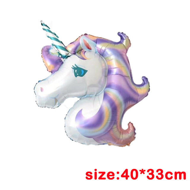1pcs Birthday Party Foil Balloons Champagne Cup/Beer Bottle/Unicorn Ballons Bachelorette Air Baloons Summer Party Favor