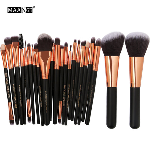 MAANGE 20/22Pcs Beauty Makeup Brushes Set, Cosmetic Foundation, Powder Blush Eye, Shadow Lip Blend