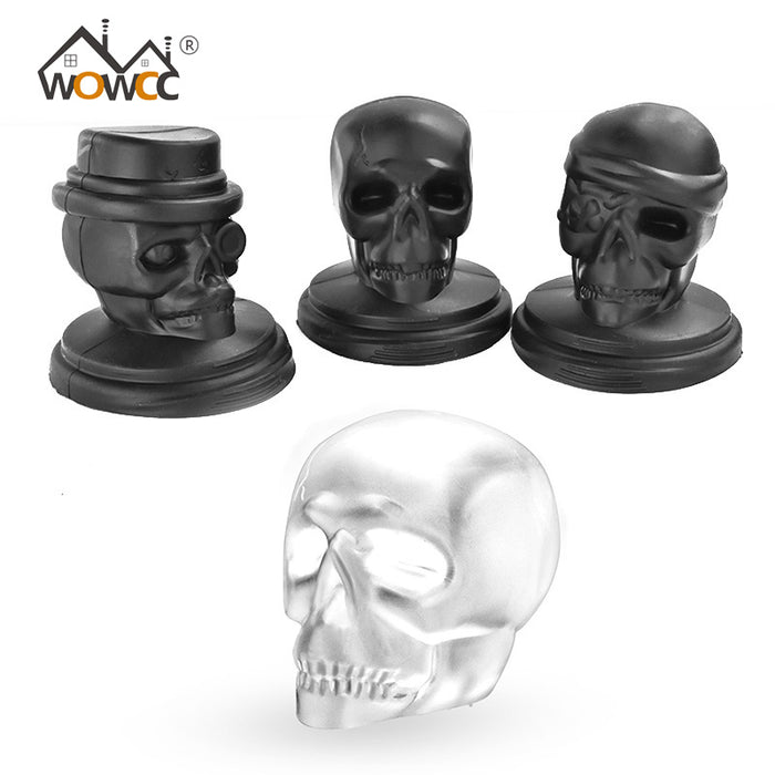 Skull Head Shaped Silicone Ice Cube Maker Ice Mold Whiskey Cocktail Ice Ball Maker Large Ice Cube Bar Tool - 1pc