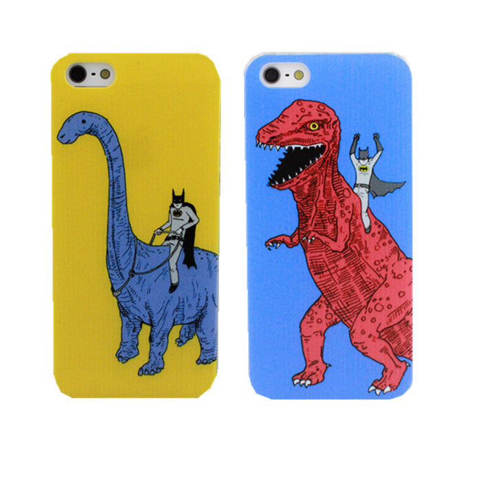 Dinosaurs And Batman Phone Case Cover For Apple iPhone X 4 4S 5 5S SE 5C 6 6S 7 8 Plus i Phone Coque