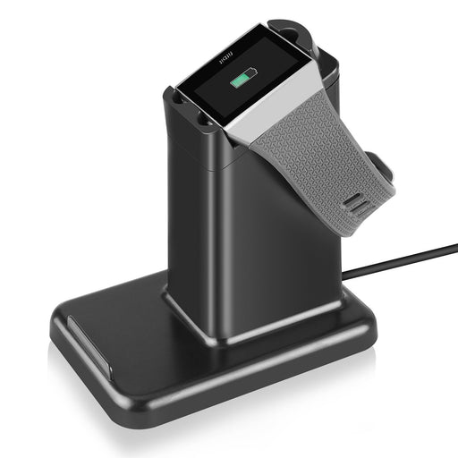 Fitbit Ionic Charger, 2 In 1 Phone Stand Holder, Magnetic Dock Station Watch Charger Cradle USB Back Port Charge Station with 1.5M Cable for Fitbit Ionic Smart Watch