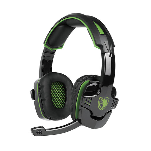 SADES SA-930 3.5mm Gaming Headsets with Microphone Noise Cancellation Music Headphones Black-green for PS4 Laptop Tablet PC Mobile Phones