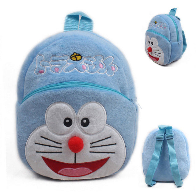 [ Monssjay ] Cute Cartoon Kids Plush Backpack , School Bag for Children, Unisex (23*21cm)