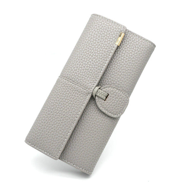 2018 New Phone Pocket Luxury Wallets for Women , Leather Clutch, Long Hasp w/ Purse, Card Holder