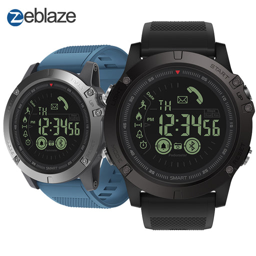 New Zeblaze VIBE 3 Flagship Rugged Smartwatch 33-month Standby Time 24h All-Weather Monitoring Smart Watch For IOS & Android