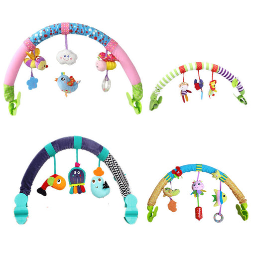 Lovely Stroller Lathe Car Seat Cot Hanging Toys Baby Play Travel Newborn Infant Baby Toys Educational Rattles Mobile