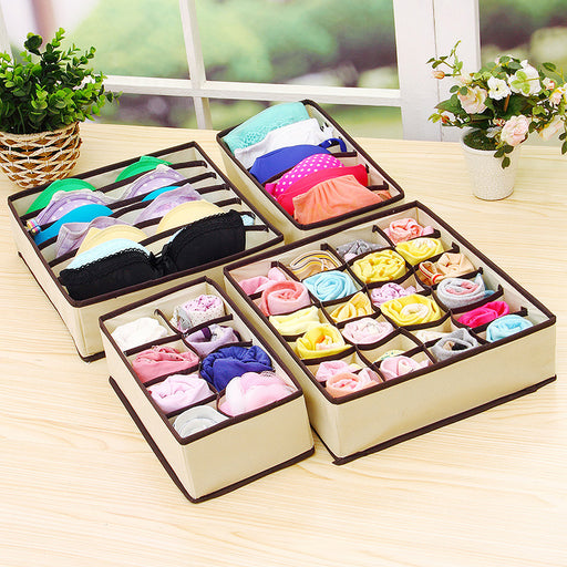 Pc Underwear Bra Organizer Storage Box 2 Colors Drawer Closet Organizers Boxes For Underwear Scarfs Socks Bra Multi Size