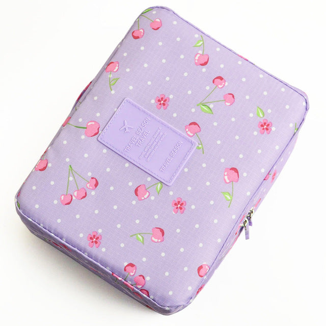 Women's Travel Organizer, Beauty Cosmetic Make up Storage, Cute Lady Wash Bags, Handbag Pouch Accessories