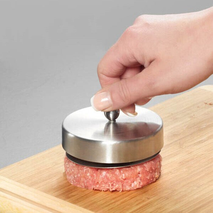 Stainless Steel Hamburger Patties Mold Maker Hand Operated Burger Press Kitchen Accessories Cooking Meat Tools