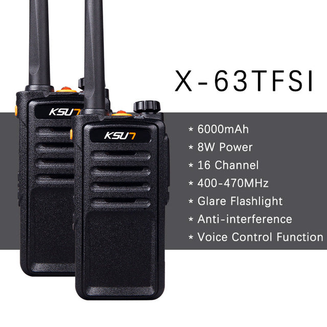 KSUN X-30 handheld walkie talkie portable radio 8W high power UHF Handheld Two Way Ham Radio Communicator HF Transceiver (2 Units)