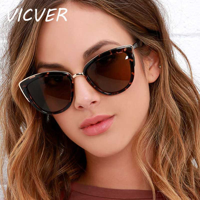 Cat EyeSunglasses Women's Luxury Brand Designer Vintage Gradient Glasses Retro Cat Eye UV400 Sunglasses