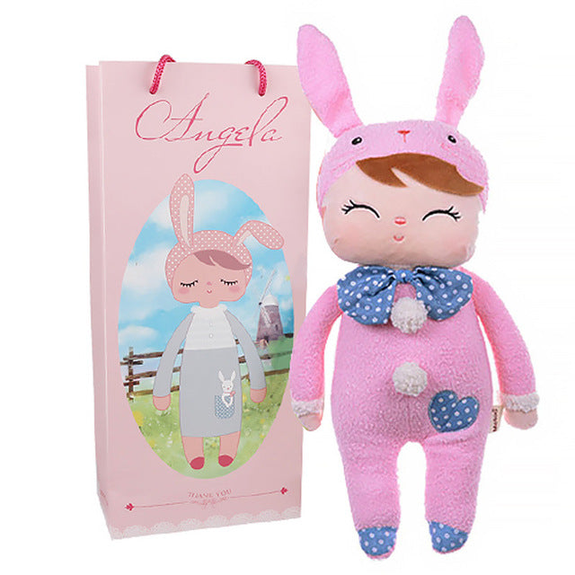 13 Inch kawaii Plush Soft Stuffed Animals Baby Kids Toys for Girls Children Birthday Christmas Gift Angela Rabbit Metoo Doll