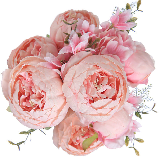 Luyue 13 Branch/Bouquet Artificial Flowers,Silk Rose for Wedding and Home Decor