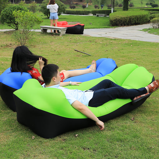 2018 Fast Inflatable Air Sofa Bed Good Quality Sleeping Bag | Inflatable Beach Sofa Laybag (240*72cm)