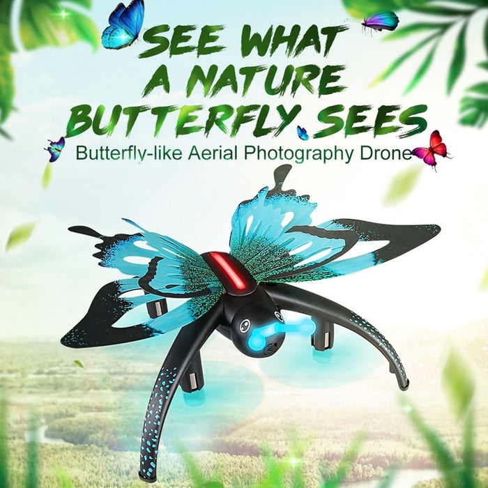 H42WH Butterfly Shaped 480P RC Quadcopter WIFI Phone Control Remote Control Dual Mode Altitude Hold Selfie Drone 0.3MP Camera