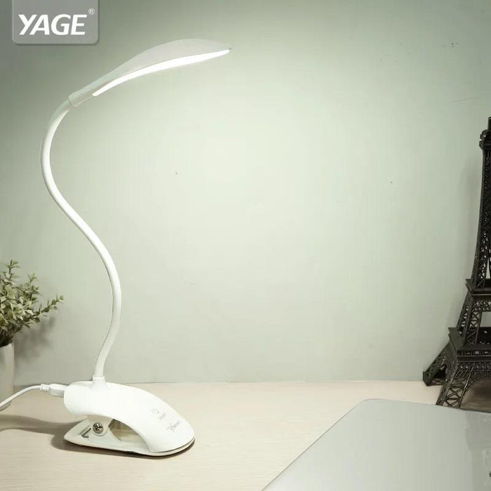 YAGE YG-5933 USB Table LED Lamp with Clip Bed Reading Book  3 Modes