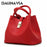 DAUNAVIA- 2018 Vintage Women's Handbags, Fashion Candy Shoulder Bags, Simple Trapeze Women's Messenger Bag