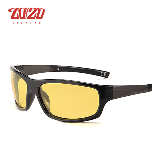 20/20 New Night Vision Men's Sunglasses Polarized Night Driving Enhanced Light Anti-glare - PL295