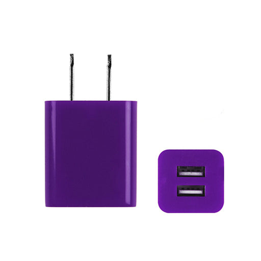 Universal Dual-Port USB Wall Charger for Mobile Phones, Tablet & Cameras