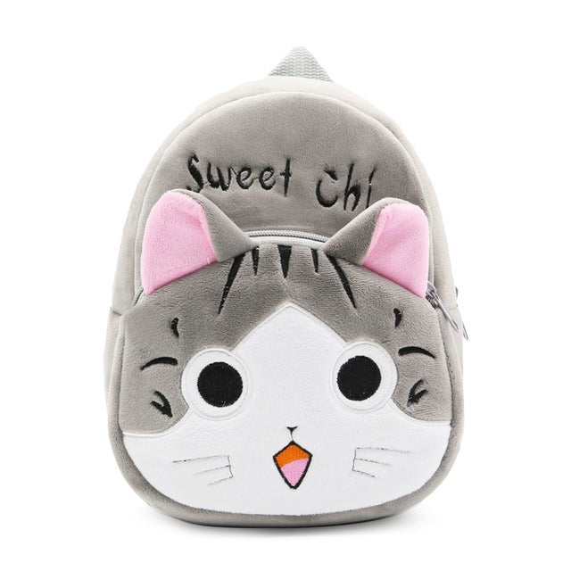 2017 Cartoon Kids Plush Backpacks, Mini Schoolbag, Hello Kitty Plush Backpack, Children School Bags - Unisex