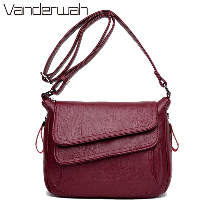 7 Colors Leather Luxury Handbags for Women  Summer Messenger Bag 2018, Sheepskin Crossbody Bags