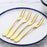 4pcs/lot Stainless Steel Fruit Fork Set Gold Food Two-tine Toothpick Forks Tools Used for Cake,Salad,Party Black Cake fork Pick