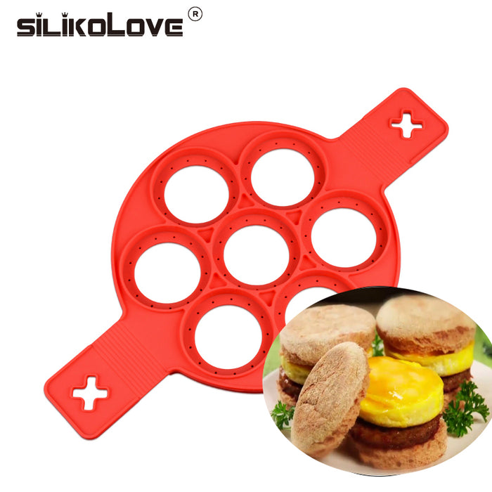 Pancake Maker Nonstick Cooking Tool Easy Egg Ring Maker Pancakes Cheese Egg Cooker Pan Flip Eggs Mold Kitchen Baking Accessories