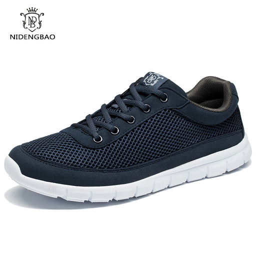 Men's Casual Shoes Breathable Lace-Up Walking Shoes Summer Lightweight Comfortable Walking Men Shoes Black Plus Size 48