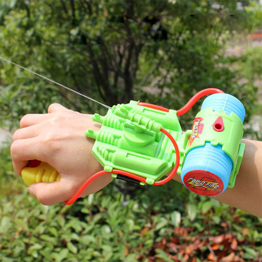 4M Range Wrist Water Gun Plastic Swimming Pool Beach Outdoor Shooter Toy Sprinkling Simba Spider-man (90ML)
