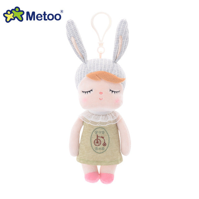 Metoo Doll Stuffed Toys Plush Animals Soft Baby Kids Toys for Children Girls Boys Kawaii Mini Angela Rabbit Pendant Keychain
