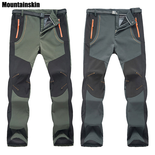 2018 New Winter Unisex Hiking Pants, Outdoor Softshell Trousers, Waterproof Thermal for Camping Ski Climbing RM032