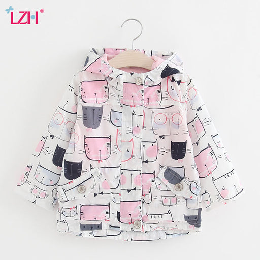 Baby Girls Jacket 2018, Autumn Winter Jacket For Girls, Kids Outerwear Coat For Girls, Trench Coat Children Clothes