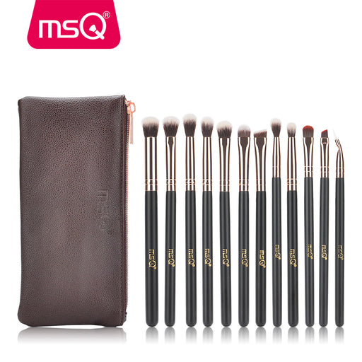 12pcs Eyeshadow Makeup Brushes Set, Pro Rose Gold Eye Shadow, Blending Make Up Brushes, Soft Synthetic Hair