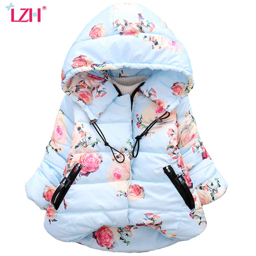 LZH Baby Girls Jacket 2018 Autumn Winter Jacket For Girls Coat Kids Warm Hooded Outerwear Coat For Girls Clothes Children Jacket