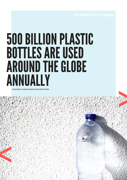 500 billion plastic bottles are used around the globe annually