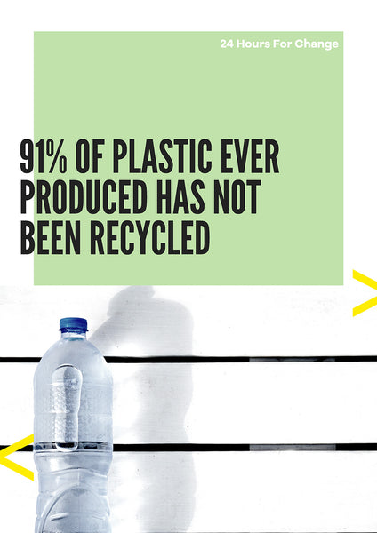 91 percent of plastics ever produced has not been recycled