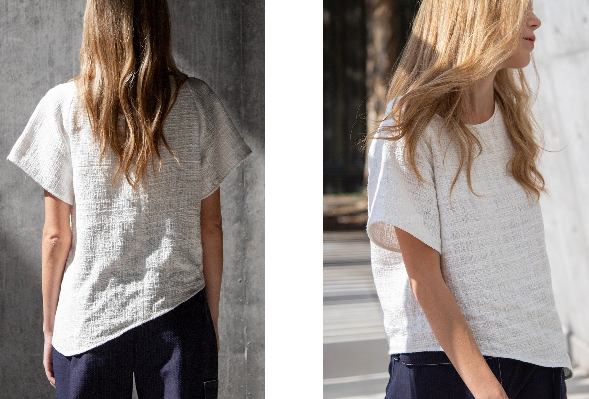 The R Collective x Tess Whitfort - The Benalla Tee made from upcycled cotton