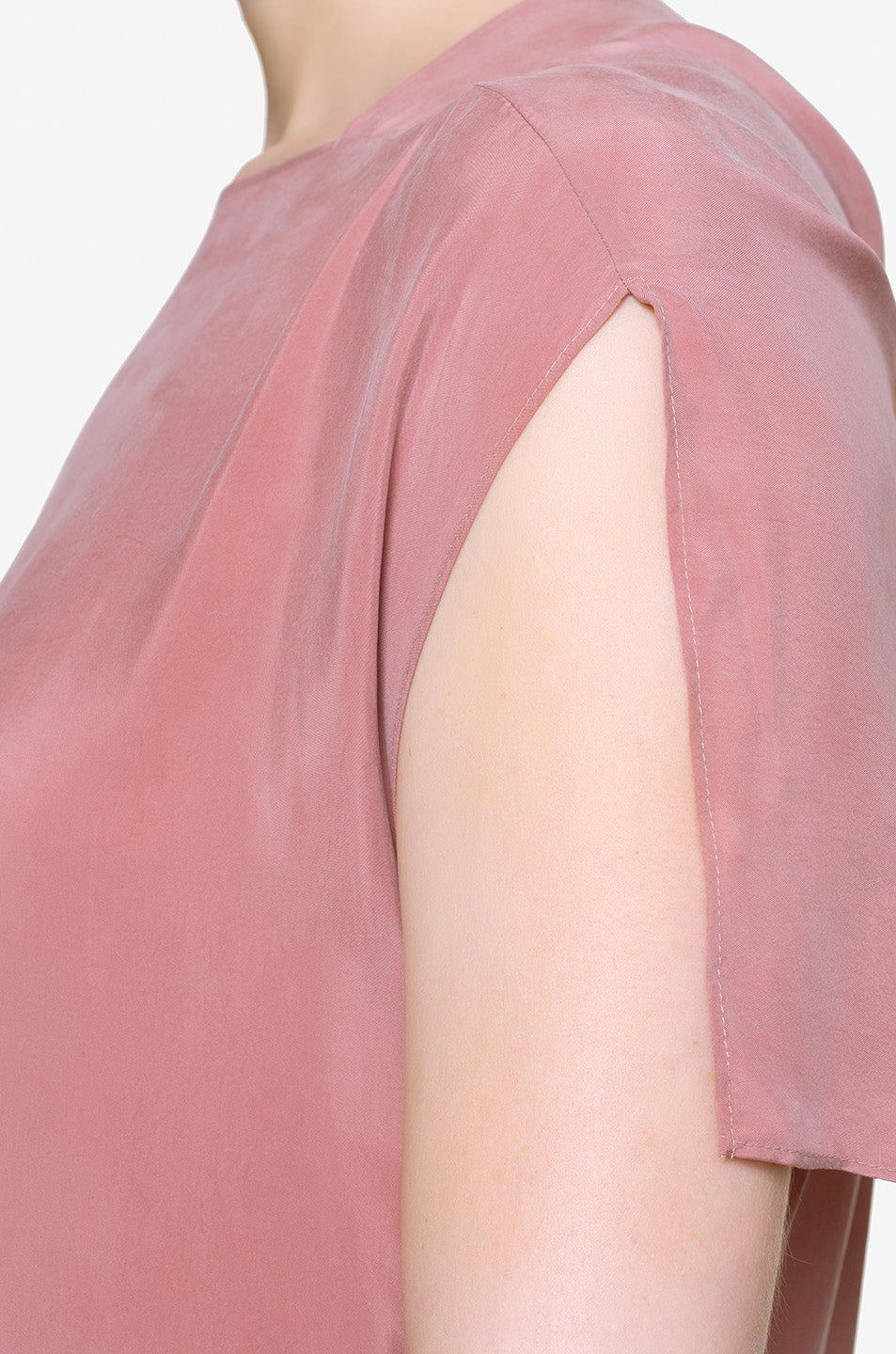 Pink Calabash Dress Sleeve
