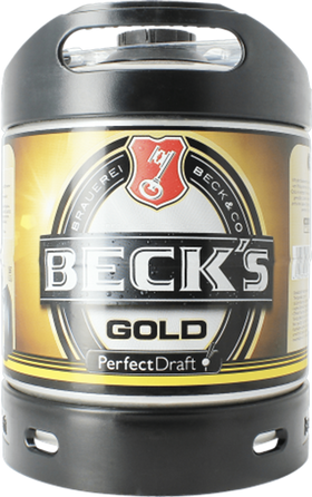 Becks Gold 6-litre PerfectDraft Keg