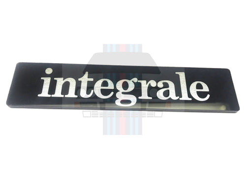 'integrale' Badge Black and Silver Evo Tailgate Boot