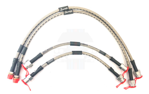 Braided Brake Hoses HFT HF4WD and integrale