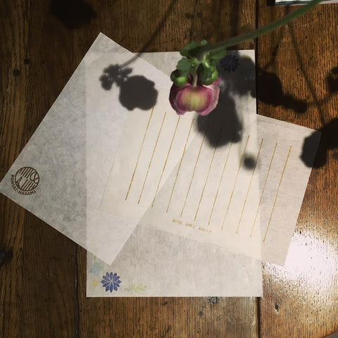 Traditional Handmade kozo letter paper.  Japan Stationery