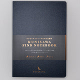 Kunisawa Hard cover A5 Notebook Charcoal 192 pages