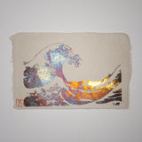 Handmade Great Waves Metallic Foil Postcard
