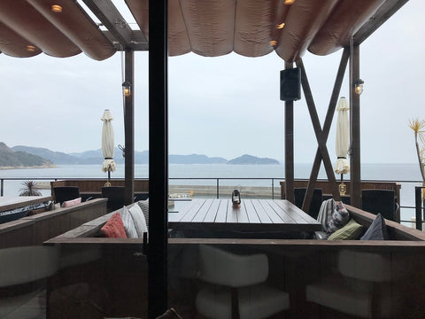 Re.seto cafe in Suo Oshima on the beach with lovely views japan