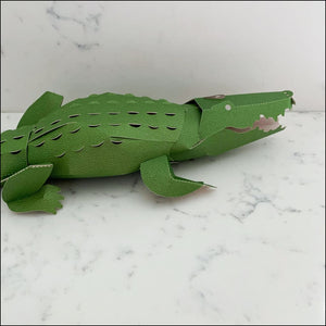 3D Card Crocodile Top to Tail - 3D Model