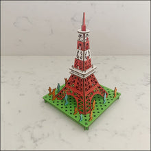 Load image into Gallery viewer, 3D Card Tokyo Tower - 3D Model