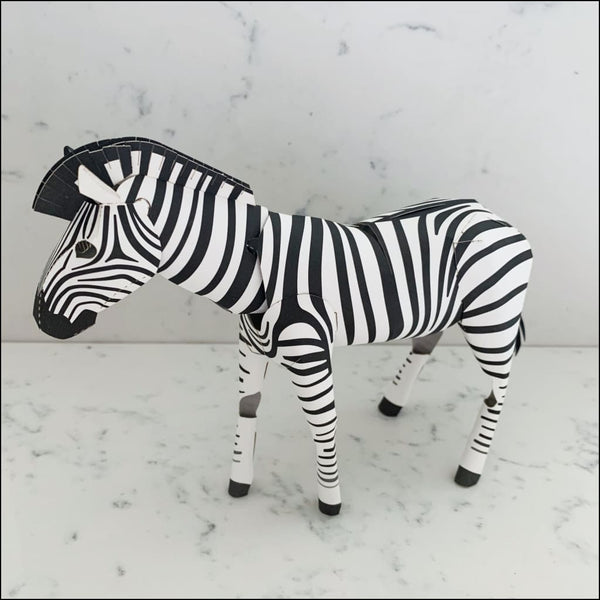 3D Card Zebra Top to Tail - 3D Model