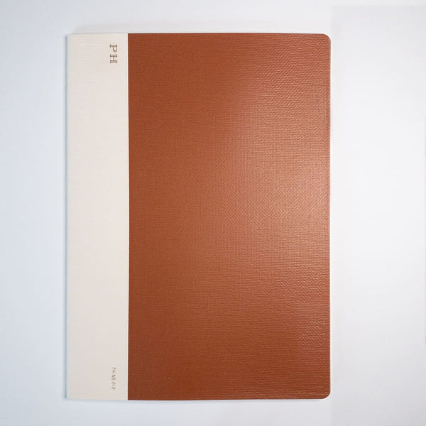 B5 Penco Hightide Cheesecloth Notebook Rust - notebooks Japanese Stationery