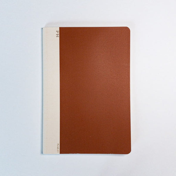 B6 Penco Hightide Cheesecloth Notebook Rust - notebooks Japanese Stationery